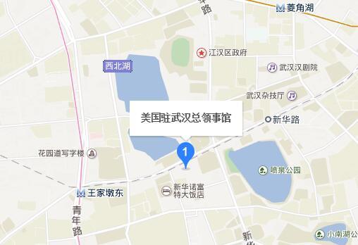 美国武汉总领事馆签证中心地理位置
