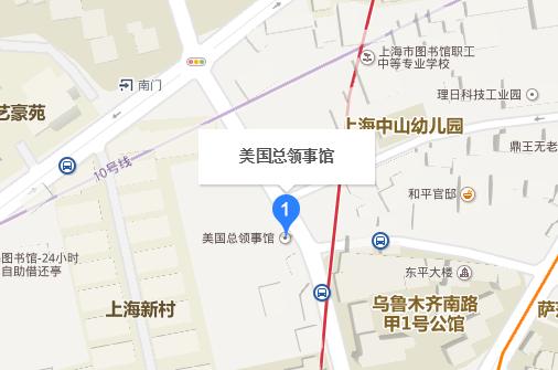 美国驻上海总领事馆地理位置